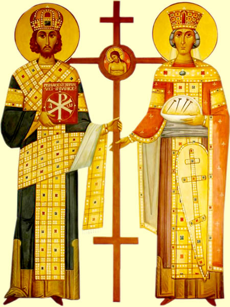 Sfinții Mari Împărați și întocmai cu Apostolii Constantin și mama sa, Elena